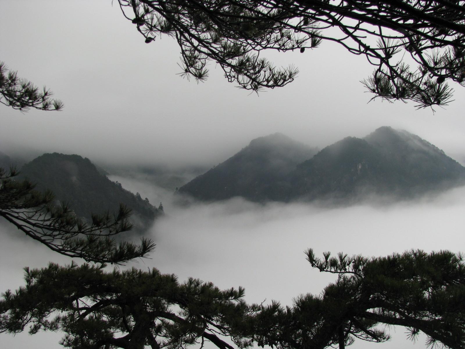 云雾水墨素材 庐山