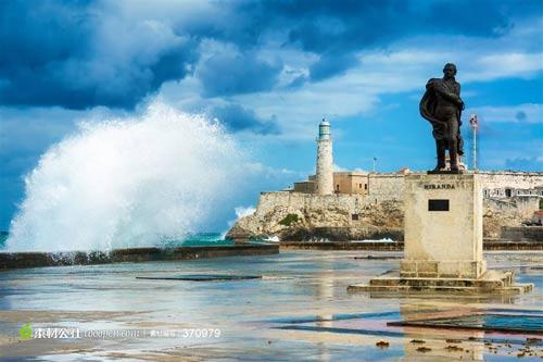 古巴-海边城堡雕塑